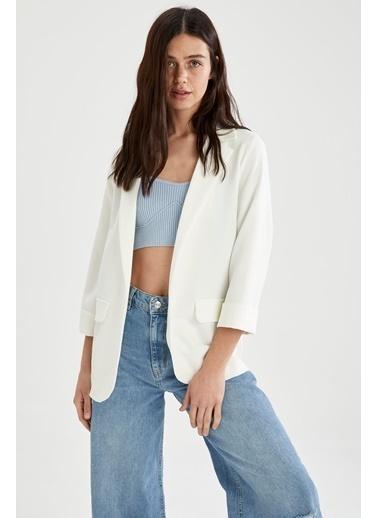 DeFacto Ceket Beyaz